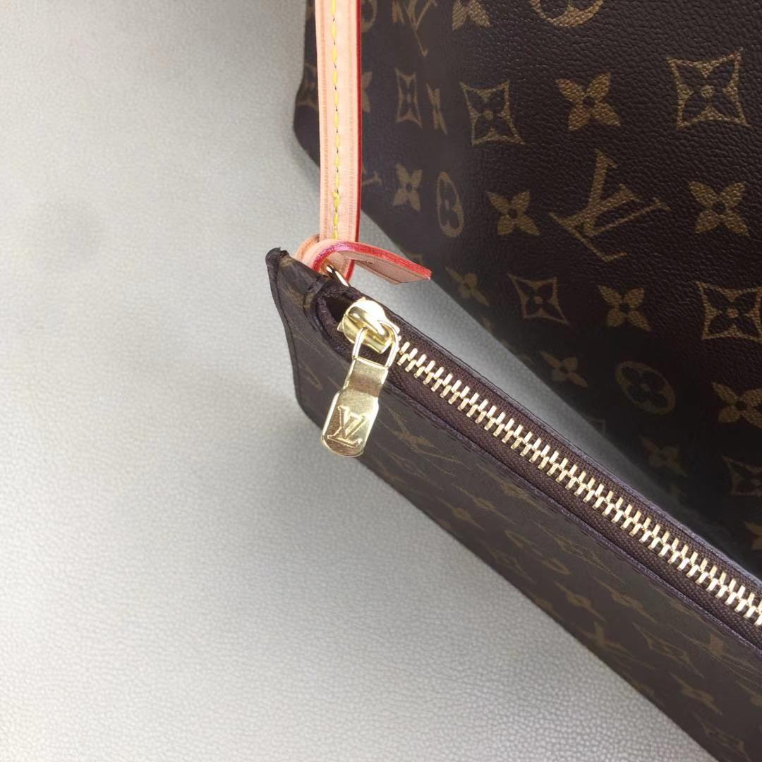 LV路易威登 顶级版m40995Neverfull 经典手袋 内衬色调为 Monogram 经典红色帆布 32x29x17cm
