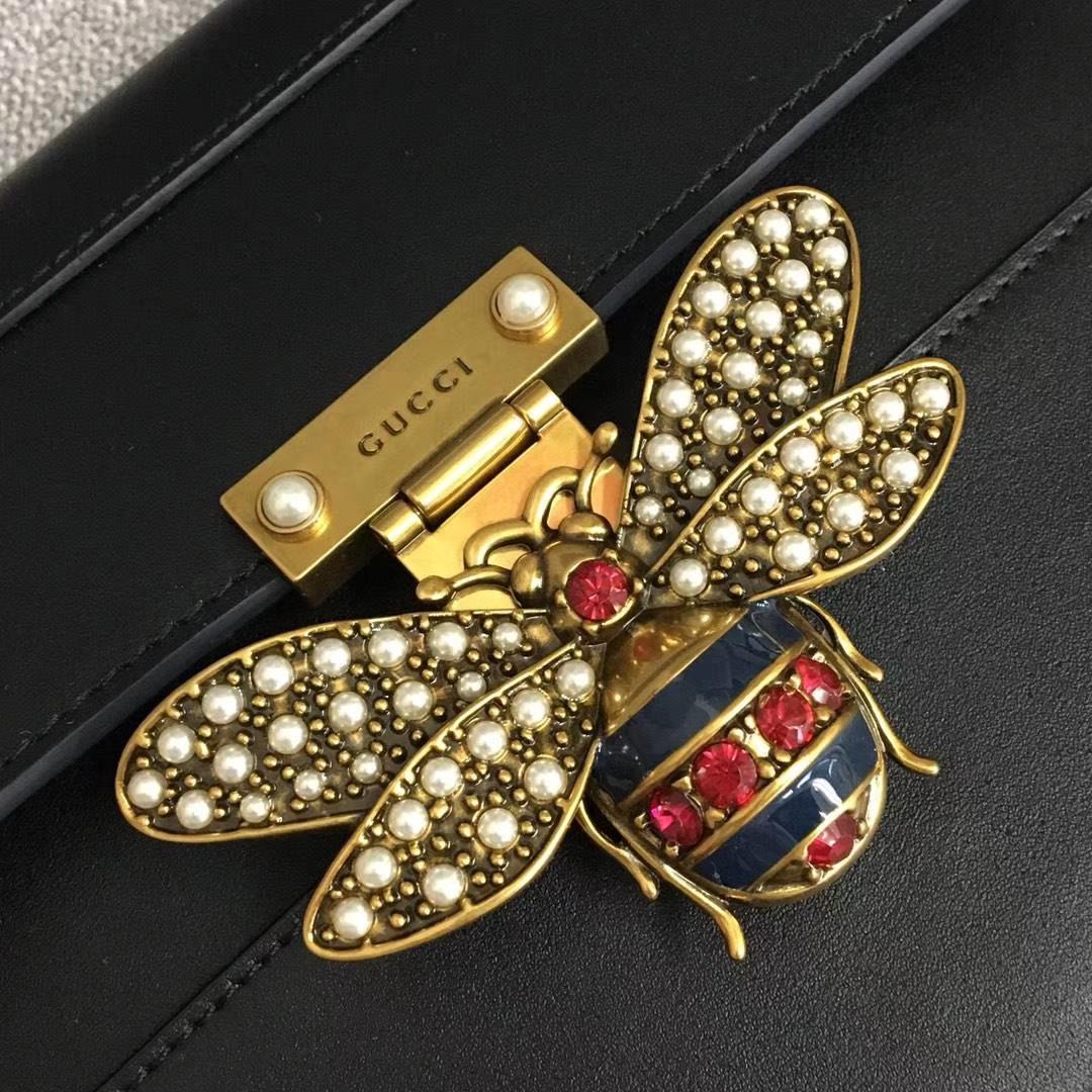 Gucci 玛格丽特皇后【Queen Margaret】476541 黑色 原单皮 以大蜜蜂做点缀 华丽又高雅 25.5x17x13cm