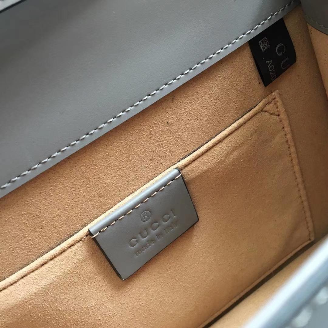 GUCCI Sylvie 470270 灰色  原单品质 夏日爆款 双肩带 20x8x14cm