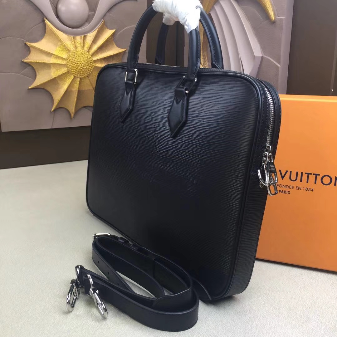 LV路易威登 Dandy Briefcase Slim公文包 M51377 黑色 Epi皮革制造 现代商务男士首选 38.0 x 27.5 x 4.5cm