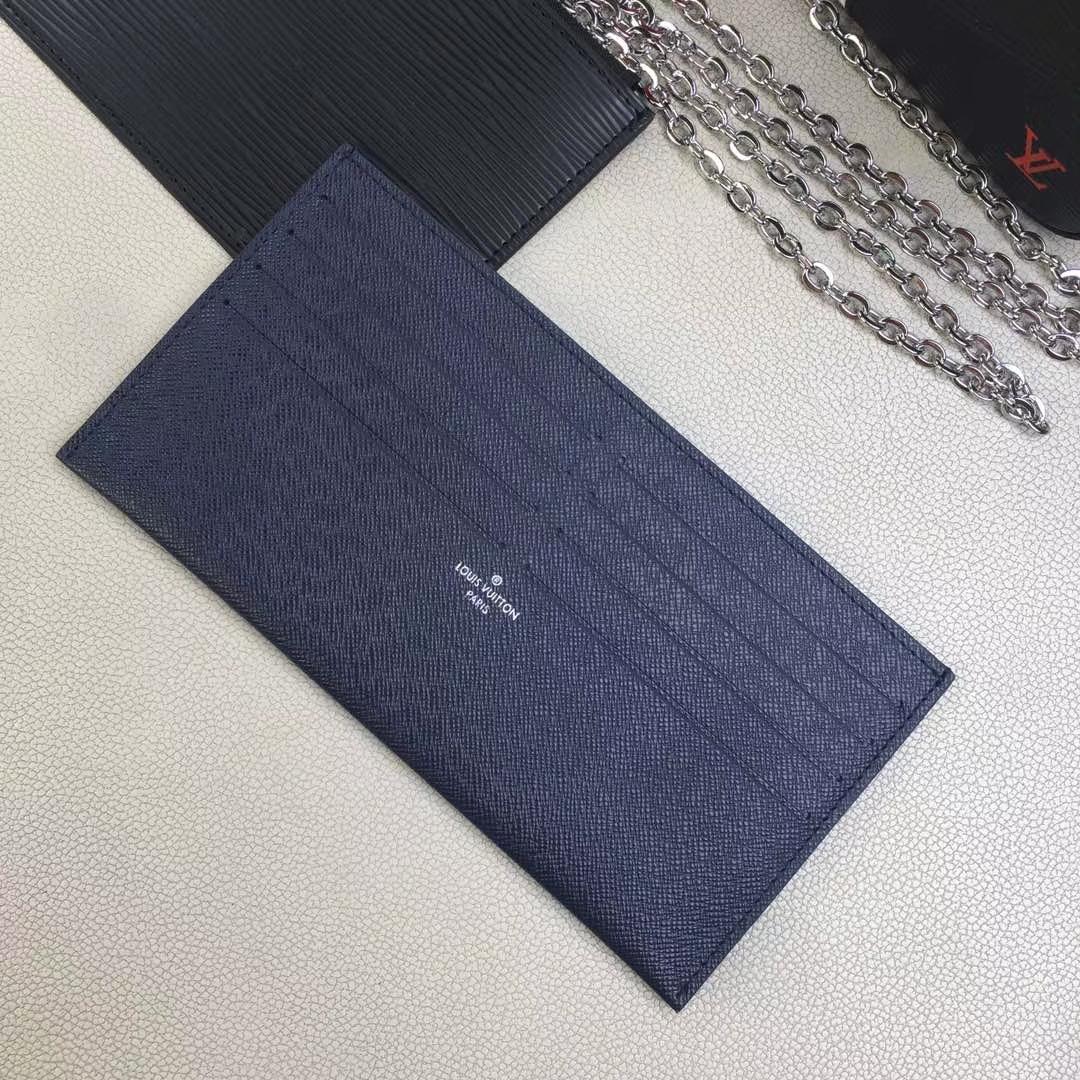 LV路易威登 M62892 红白黑 POCHETTE FÉLICIE 钱夹 黑色水波纹红白条三件套链条包 21.0 x 12.0 x 3.0cm