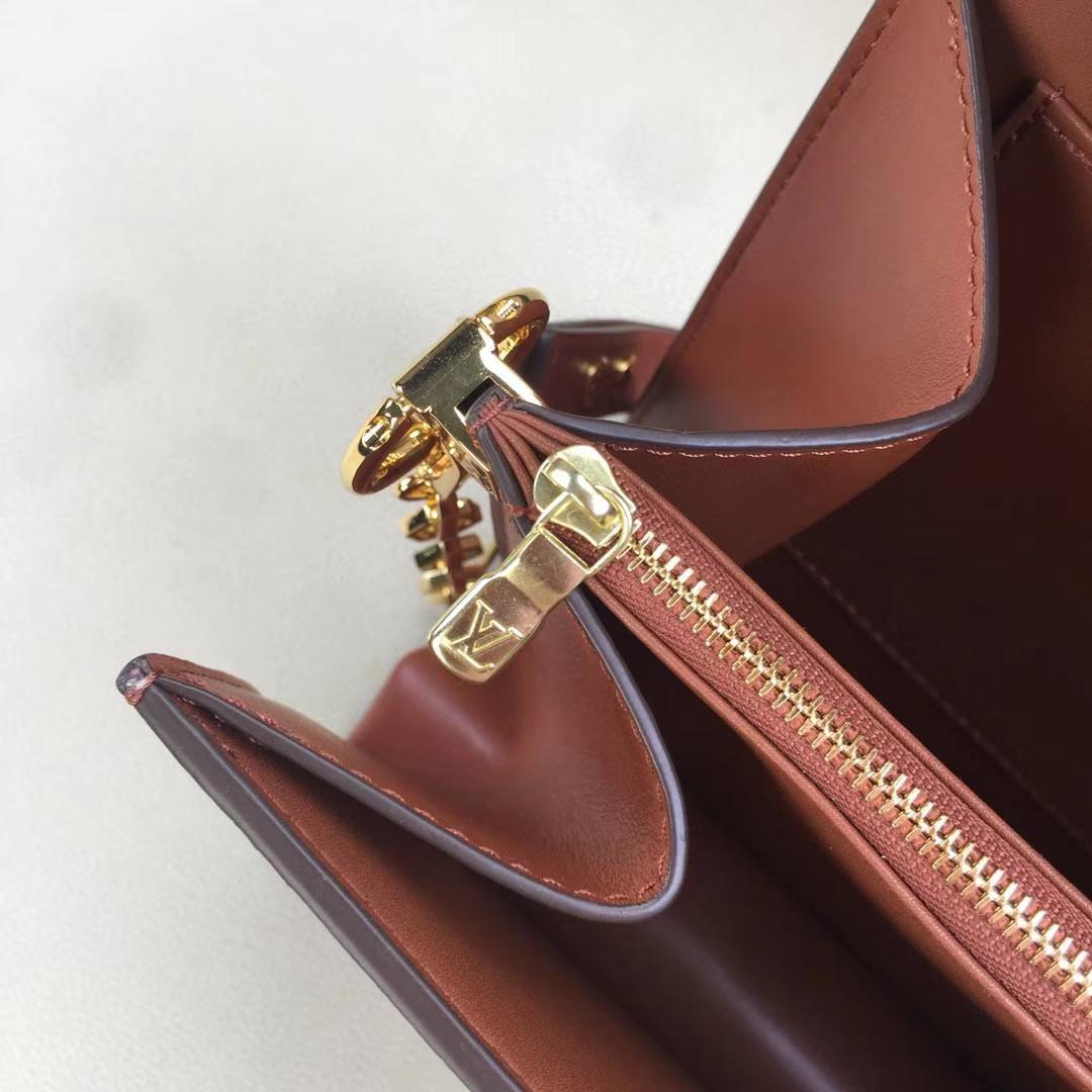 LV路易威登 2018年邮差包M43599老花最新版本出货Métis手包 老花配老花黄皮链条拼色链条 25×19×9cm