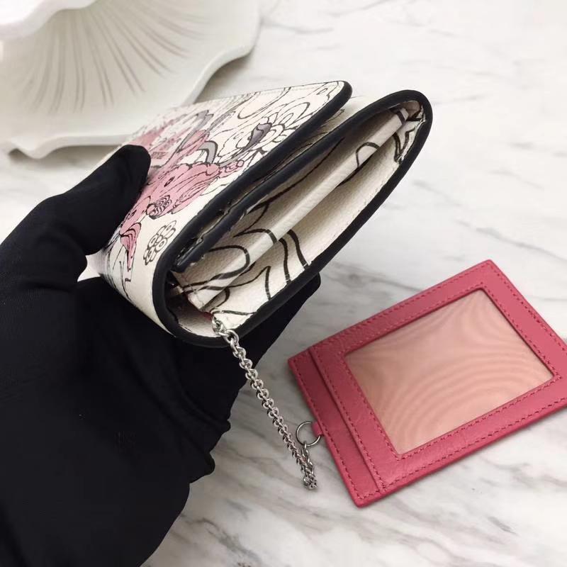 PRADA(普拉达)兔子系列钱包 1MH132 粉色 打破沉闷的纯色 精湛做工 精美的彩绘 魅力无限 18.7×9.5cm