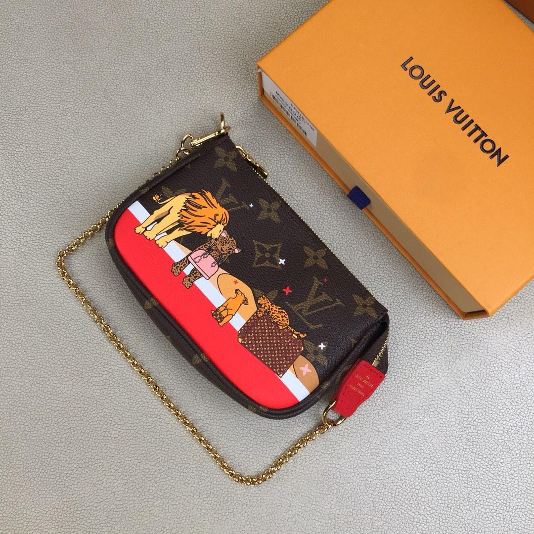 经典路易威登手袋的狮子图案 Mini Pochette Accessoires M58009 风格可爱