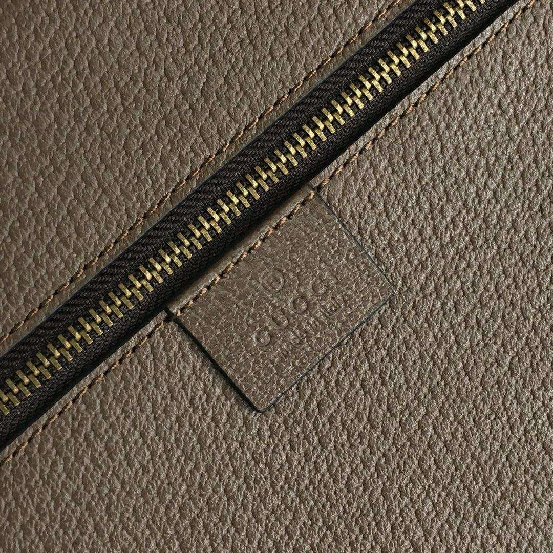 GUCCI(古驰)Ophidia系列GG双G红绿编织带复古TOTO手提袋 547941 简约时尚 36x40x10cm