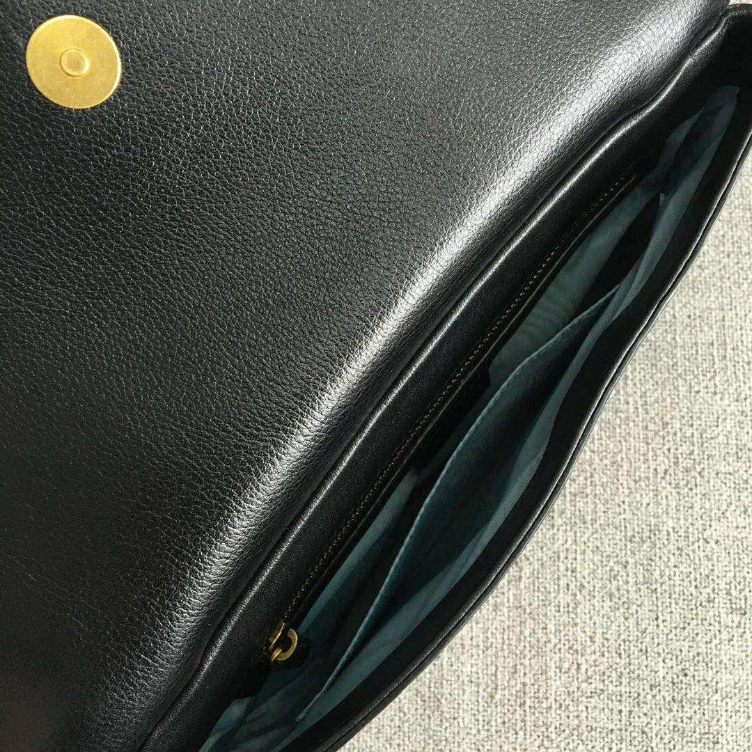 GUCCI(古驰)新款双面双色手提单肩斜挎包 524822-1 白色+黑色 双袋设计 正反两种造型 27x16x6(1600)