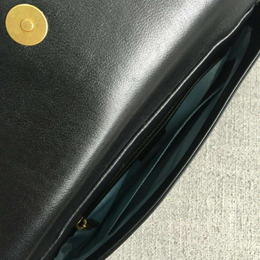 GUCCI(古驰)新款双面双色手提单肩斜挎包 524822-1 绿色+黑色 双袋设计 正反两种造型 27x16x6