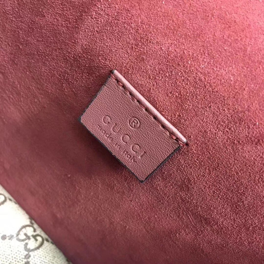 GUCCI(古驰)酒神包天竺葵系列 421970 粉色花纹 原单品质 古银织纹虎头马刺扣 20x15.5x6