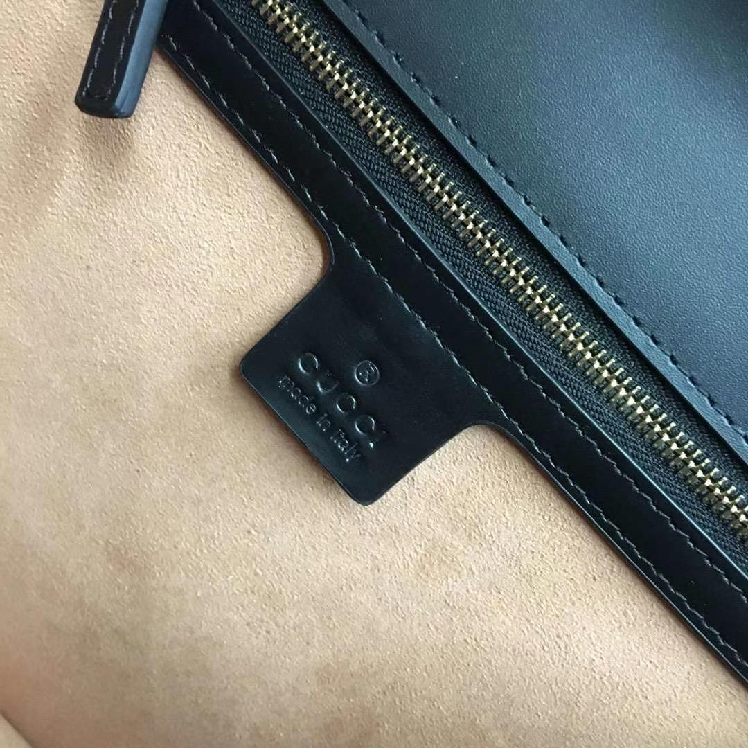 GUCCI(古驰)Sylvie 原单品质 431665 黑色 进口五金材质 时尚有气质 简单又实用 31.5 x 22 x 11