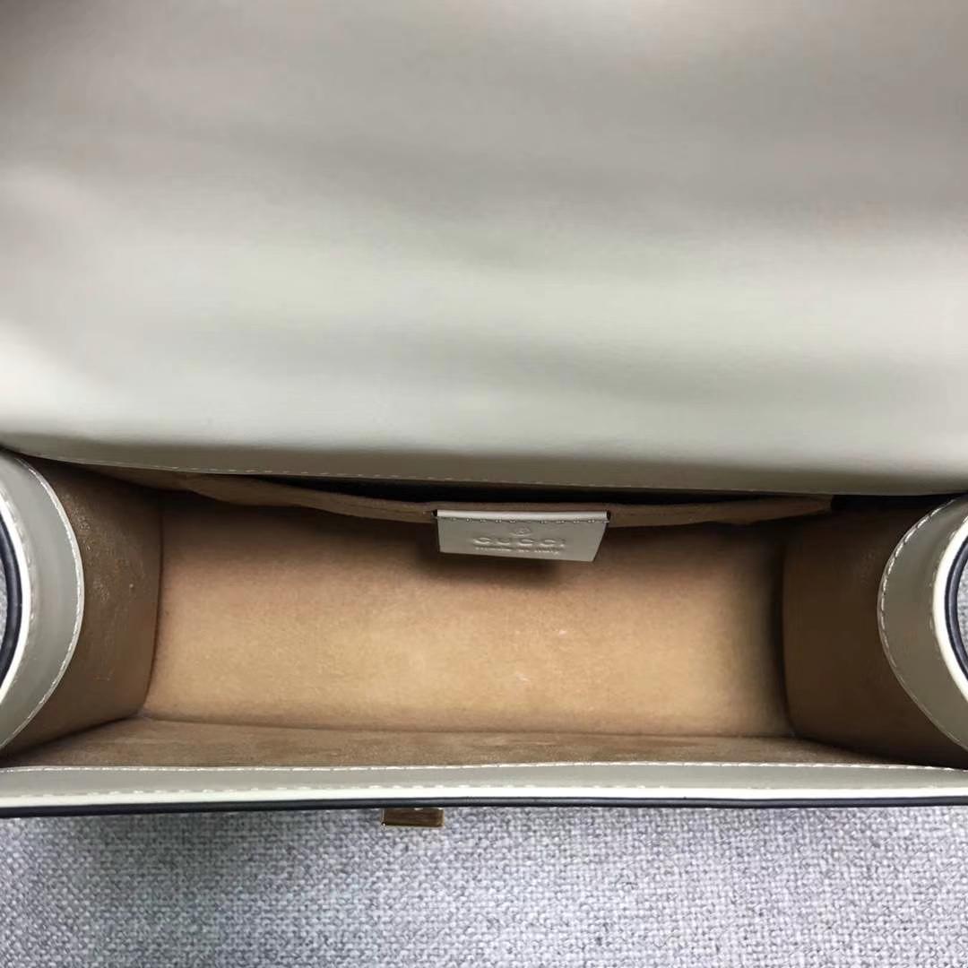 GUCCI(古驰)Sylvie系列小号手袋 431666 白色 原单品质 标准性五金 时尚街拍风 19x8x14cm