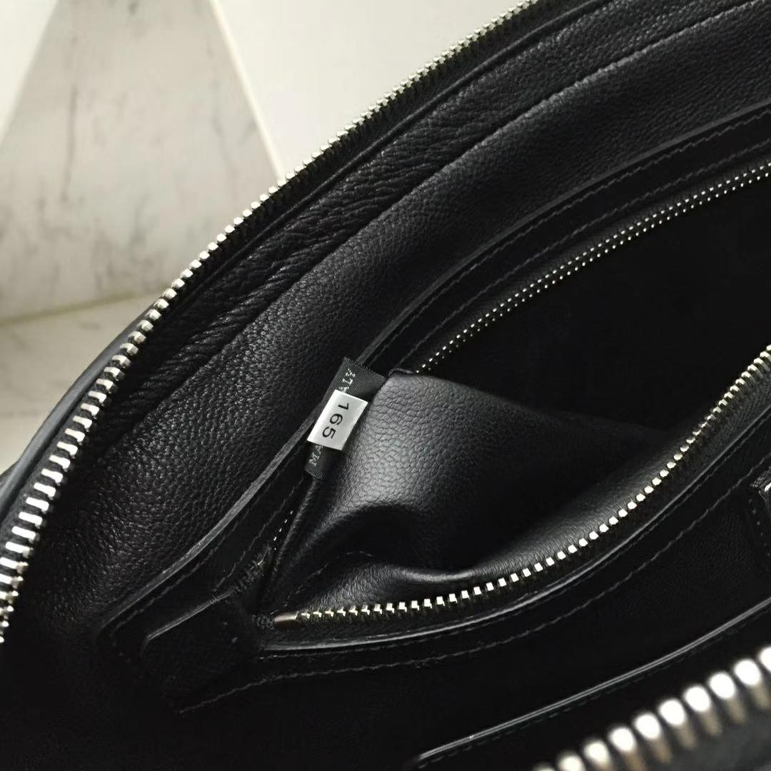 PRADA(普拉达)新款 2VE368 公文包 十字纹车菊蓝拼角唛超薄款 进口意大利皮 内里羊皮 36x28x3.5cm