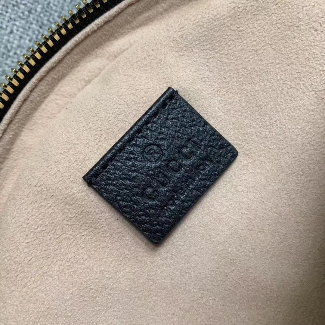 GUCCI(古驰)Ophidia 猪纹皮系列 550618 原单面料 黑色 女神必备款 超级百搭 现货 19x19x4.5cm