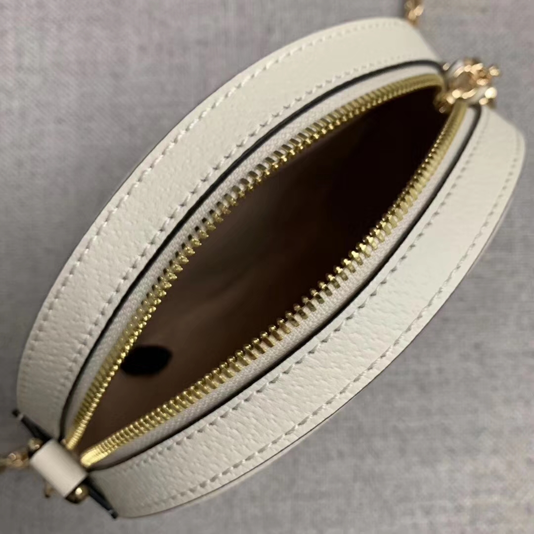 GUCCI(古驰)Ophidia 猪纹皮系列 550618 原单面料 白色 女神必备款 超级百搭 现货 19x19x4.5cm