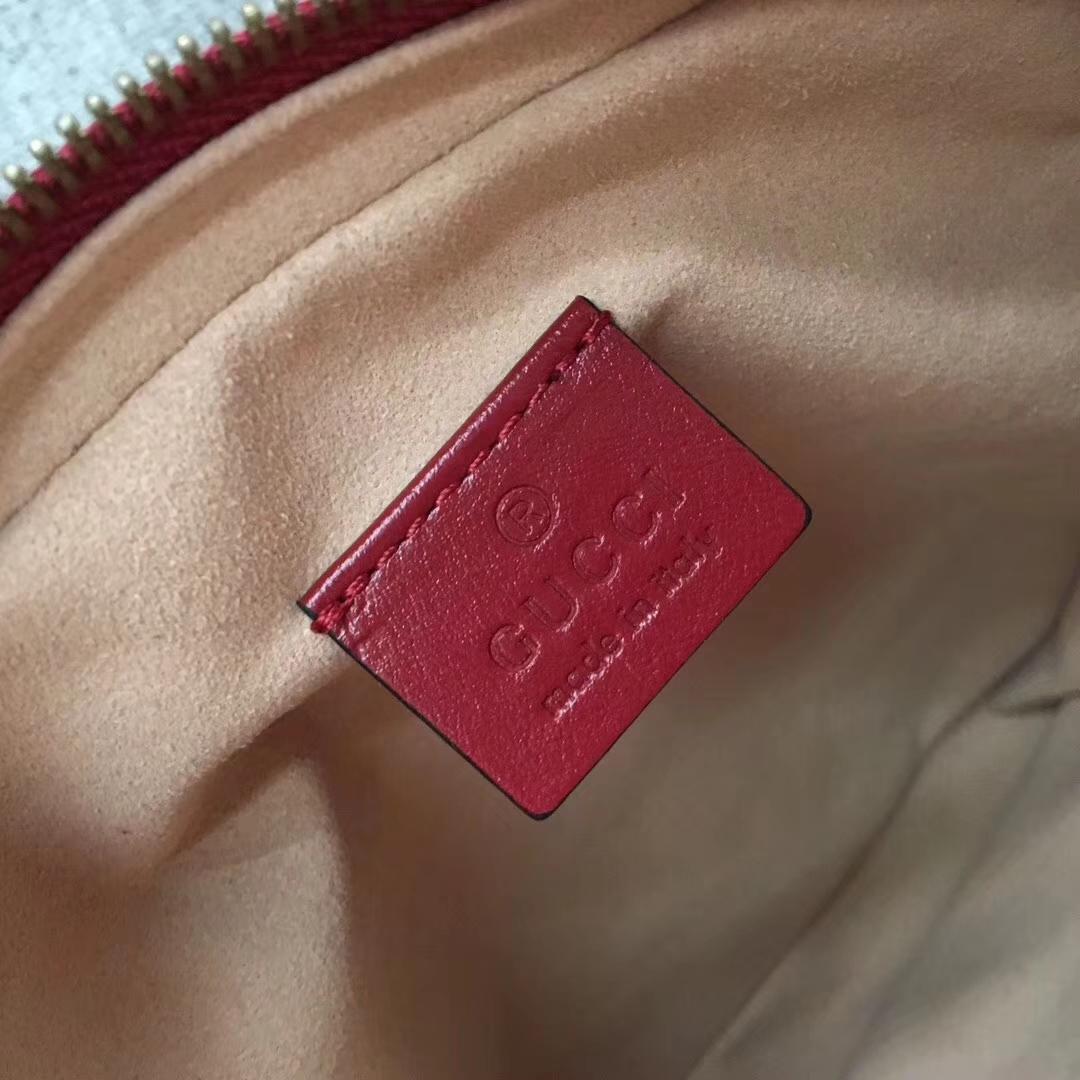 GUCCI(古驰)最新款经典双G mini双层小斜挎包 550155 红色 进口五金 原单质量 16x7x19