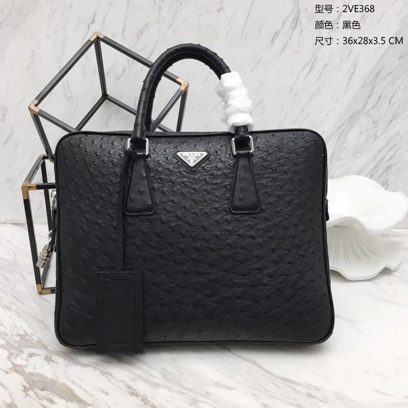 专柜同步 最新款超薄2VE368公文包鸵鸟皮 高贵时尚洋气 超薄携带方便