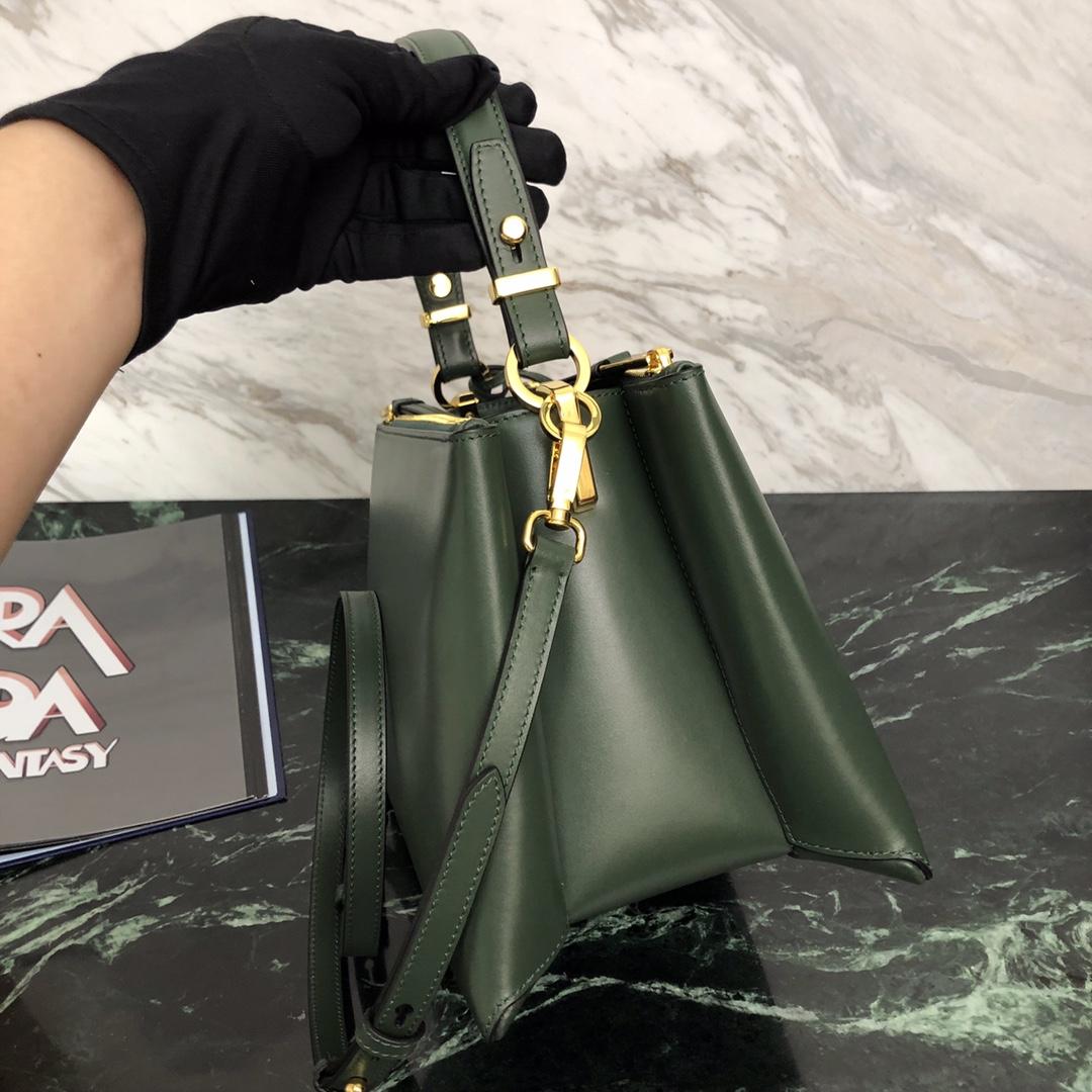 P家秋冬最新款Deux小号手袋1BA234 意大利进口原厂皮 里配羊皮 原单五金