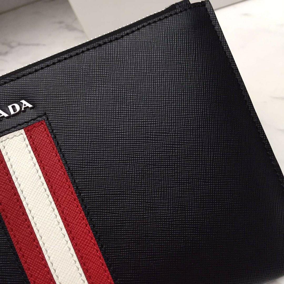 P家2NG003原单拼条版 原单牛皮 原单Lampo拉链 内可装银行卡位 实用又时尚