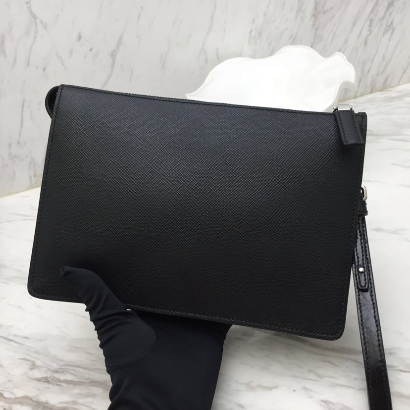 P家专柜限量版手包2VF001 鳄鱼皮拼手挽 原单顶尖货 进口牛皮 原单拉链 里配羊皮