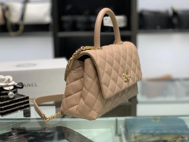 Chanel(香奈儿) coco handle 小号 链条包 杏仁色 金扣 24cm