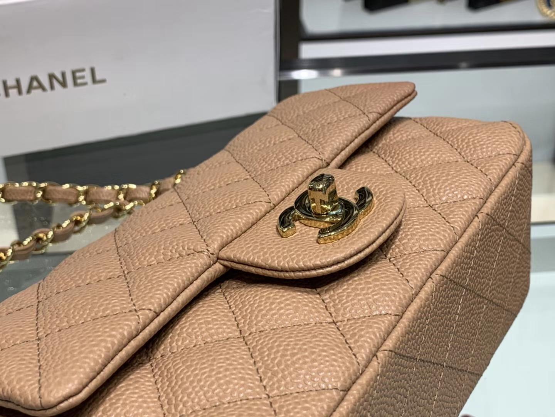 Chanel(香奈儿)cf # 链条包 卡其色 金扣 金链 20cm
