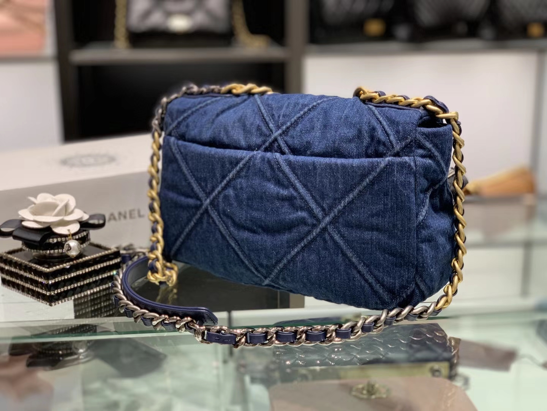 Chanel(香奈儿)𝟮𝟬𝟮𝟬 𝖈𝖍𝖆𝖓𝖊𝖑 19 手袋 超美的牛仔蓝