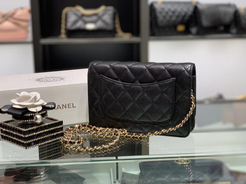 Chanel(香奈儿)𝓦𝓞𝓒 经典菱格包 鱼子酱 金扣 19.5cm