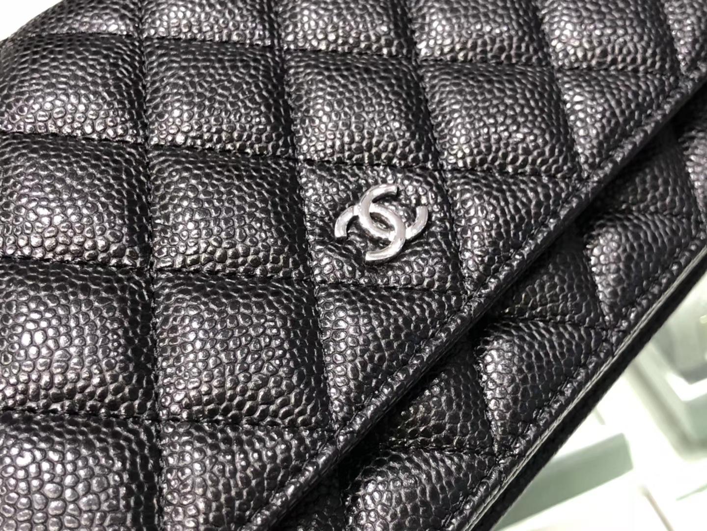 Chanel(香奈儿)𝓦𝓞𝓒 经典菱格包 鱼子酱 银扣 19.5cm