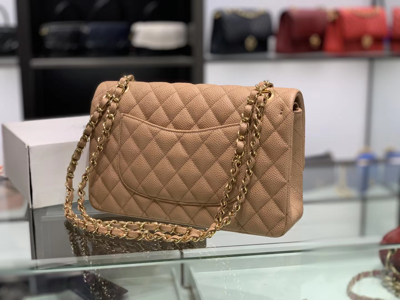 Chanel(香奈儿)cf # 链条包 卡其色 金扣 30cm