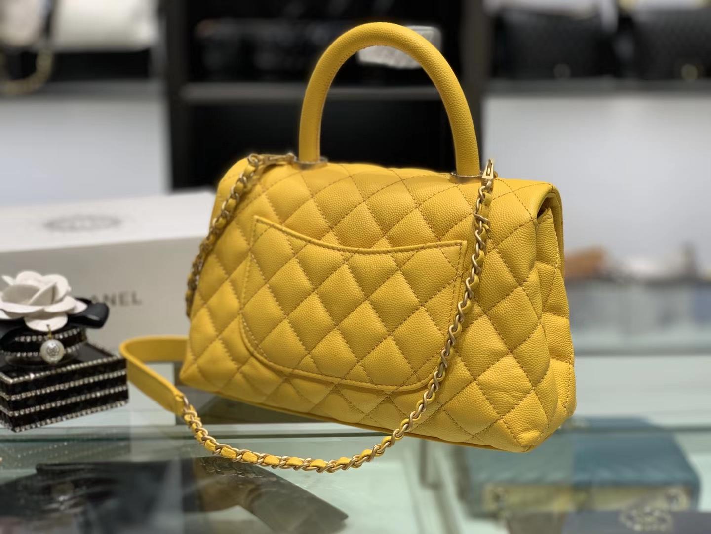 Chanel(香奈儿) coco handle 小号 链条包 琥珀黄 金扣 24cm