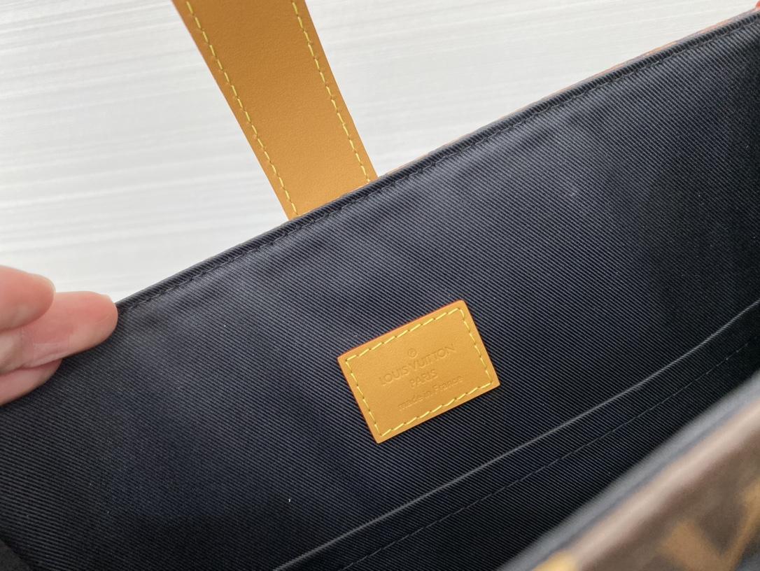 LV包包官网 最新NIGO合作系列风琴包69536 融化的monogram像巧克力冰激淋一样