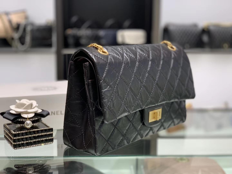 Chanel(香奈儿)reissue 链条包 2.55经典复刻系列 黑色 32cm 金扣