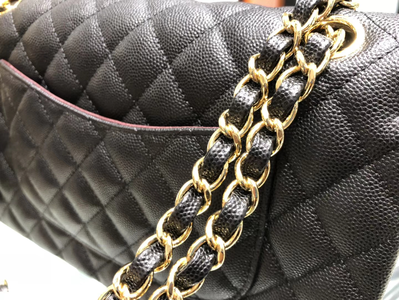 Chanel(香奈儿)cf # 链条包 黑色 金扣 金链 25cm