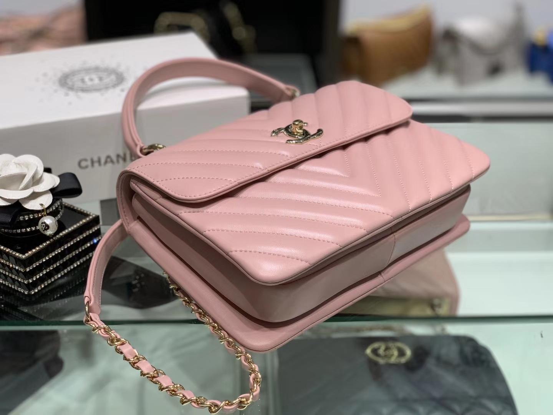 Chanel(香奈儿)Trendy cc  樱花粉 V格 25cm