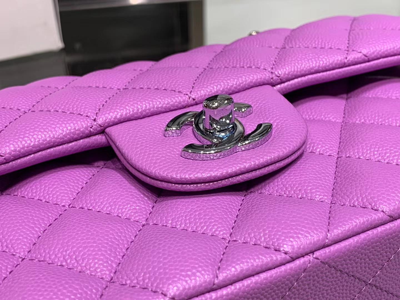 Chanel(香奈儿)cf # 链条包 香芋紫 银扣 银链 23cm