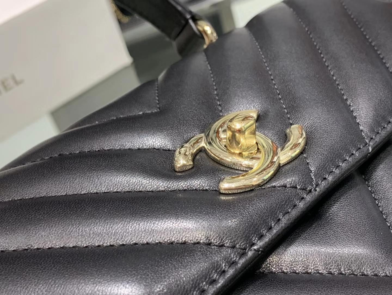 Chanel(香奈儿)Trendy cc 黑色 V格 25cm
