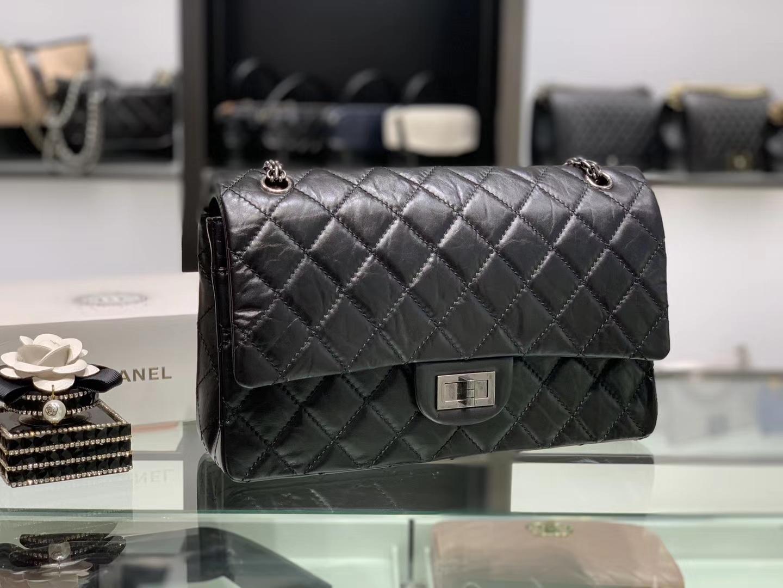 Chanel(香奈儿)reissue 链条包 2.55经典复刻系列 黑色 32cm 银扣
