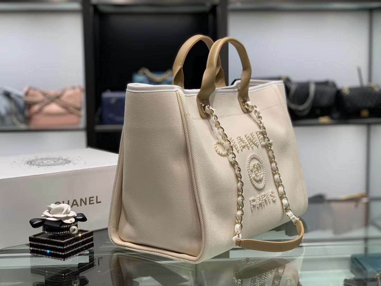 Chanel(香奈儿)2020年度最美沙滩包 米白色