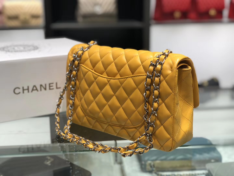 Chanel(香奈儿)cf # 链条包 琥珀黄 银扣 银链 25cm