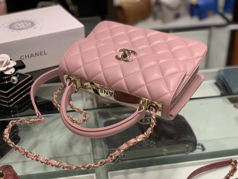 Chanel(香奈儿)Trendy cc 菱格 樱花粉 25cm
