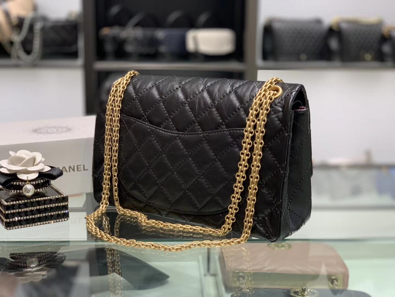 Chanel(香奈儿)reissue 链条包 2.55经典复刻系列 黑色 28cm 金扣