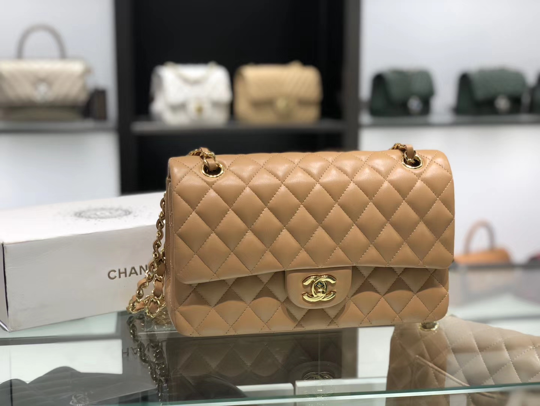 Chanel(香奈儿)cf # 链条包 深杏仁 金扣 金链 25cm