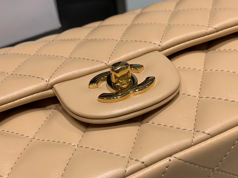 Chanel(香奈儿)cf # 链条包 杏仁色 金扣 金链 25cm