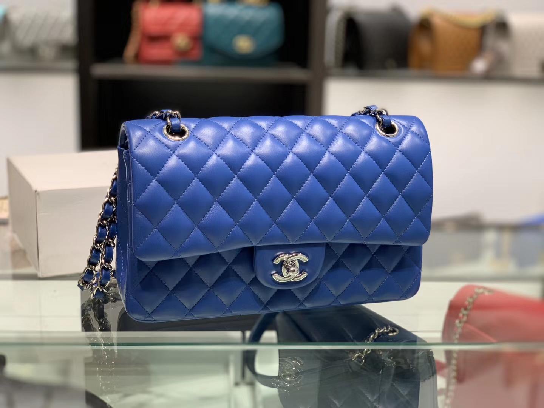 Chanel(香奈儿)cf # 链条包 电光蓝 银扣 银链 25cm