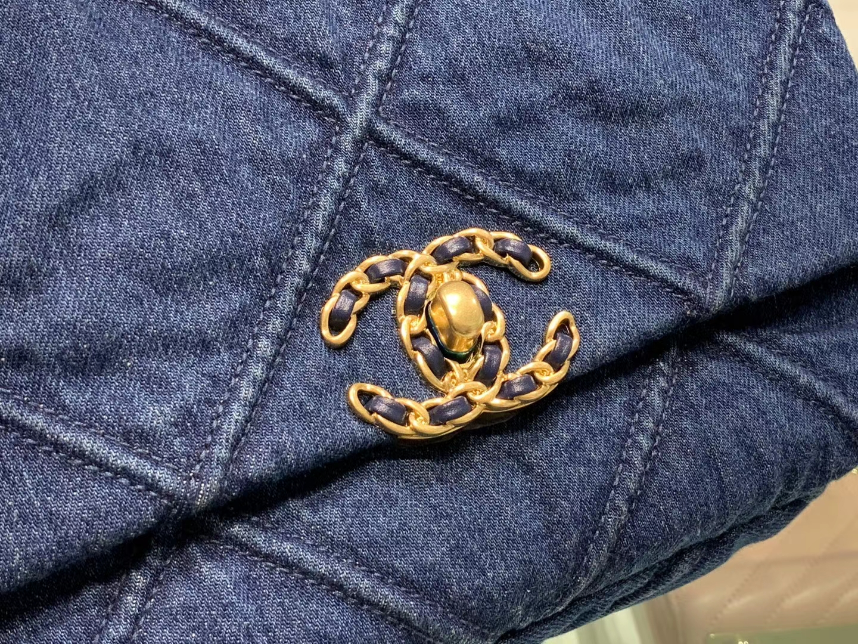 Chanel(香奈儿)𝟮𝟬𝟮𝟬 𝖈𝖍𝖆𝖓𝖊𝖑 手袋 牛仔蓝 超美 19cm