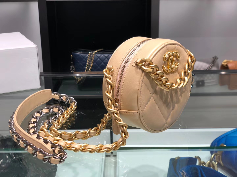 Chanel(香奈儿)𝖈𝖍𝖆𝖓𝖊𝖑 系列 小圆饼 米杏色 19cm