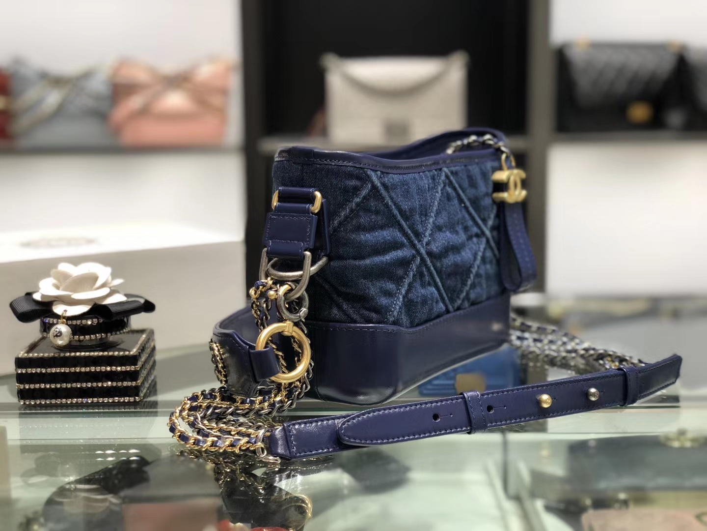 Chanel(香奈儿)𝖌𝖆𝖇𝖗𝖎𝖊𝖑𝖑 𝟮𝟬𝖈𝖒 丹宁牛仔蓝 流浪包