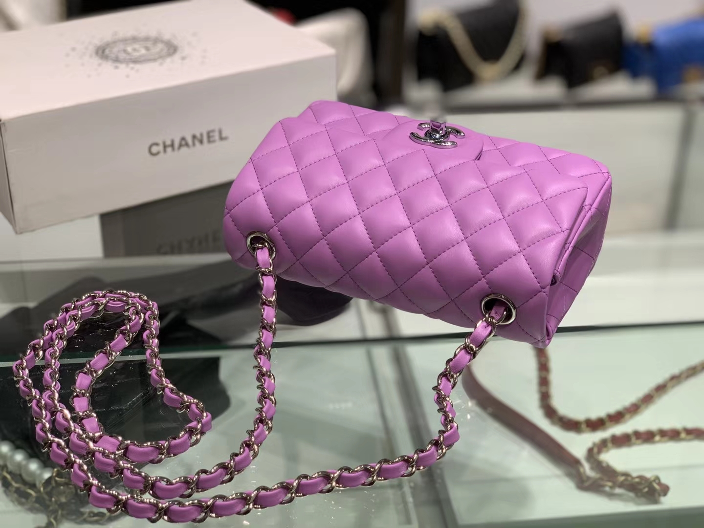 Chanel(香奈儿)cf # 链条包 香芋紫 银扣 银链 20cm