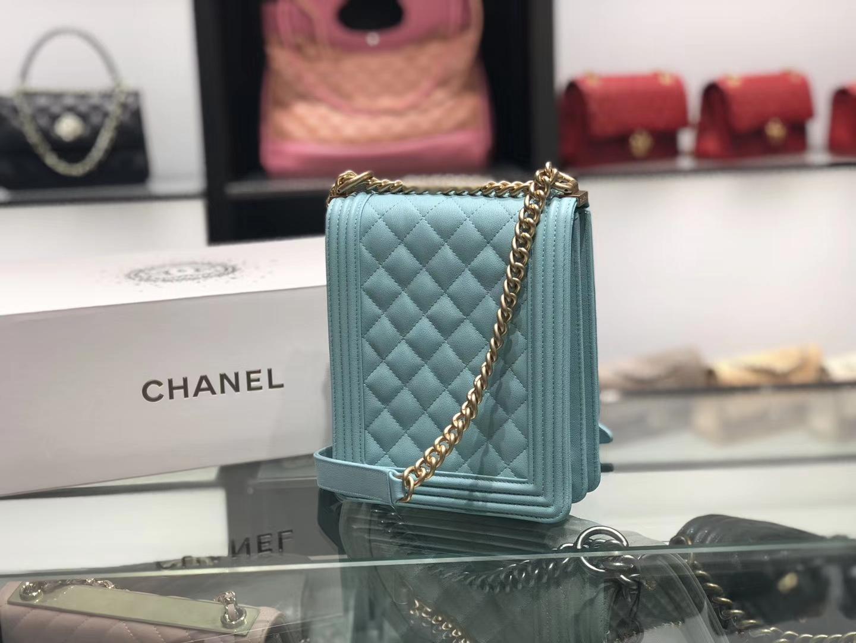 Chanel(香奈儿)竖款Leboy # 薄荷蓝配搭复古五金 19.5×16×6cm
