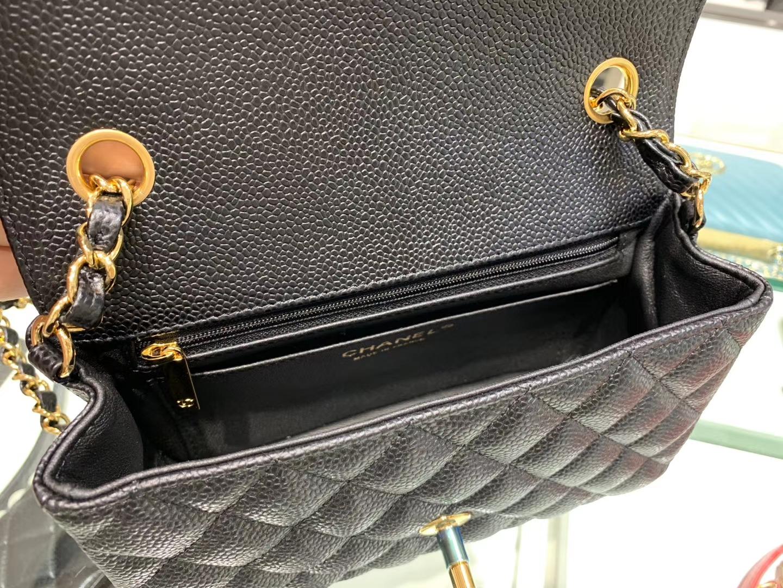 Chanel(香奈儿)cf jumbo 链条包 经典黑 金扣 金链 20cm