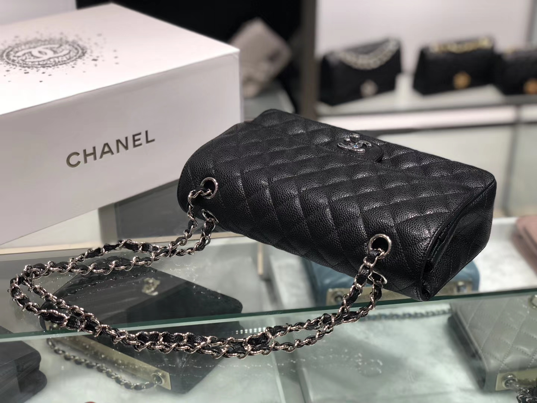 Chanel(香奈儿)cf jumbo 链条包 经典黑 银扣 银链 25cm
